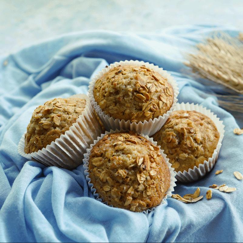 Vegane Haferflocken Muffins